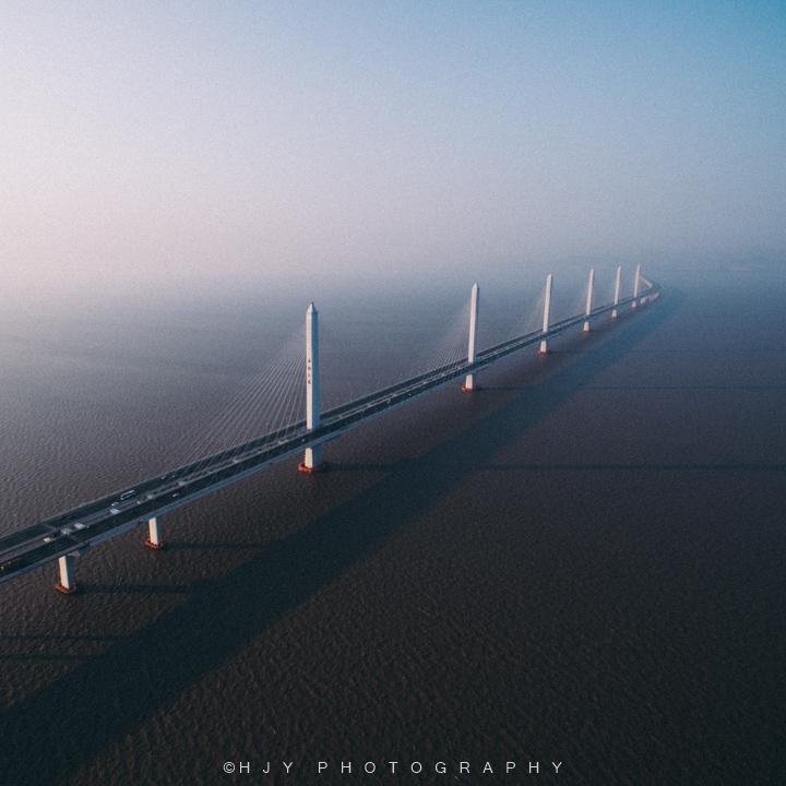 航拍嘉绍大桥